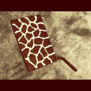 Beaded giraffe 🦒 evening bag 👜